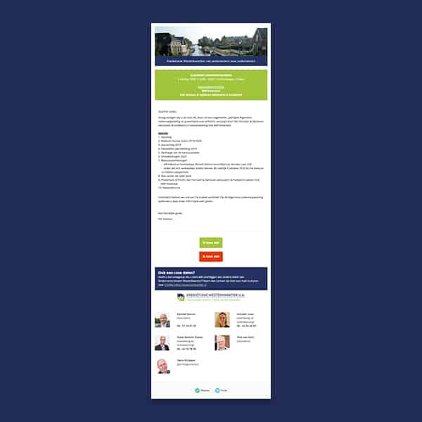 Kredietunie Westerkwartier - Klant Reclamebureau RAM - nieuwsbrief