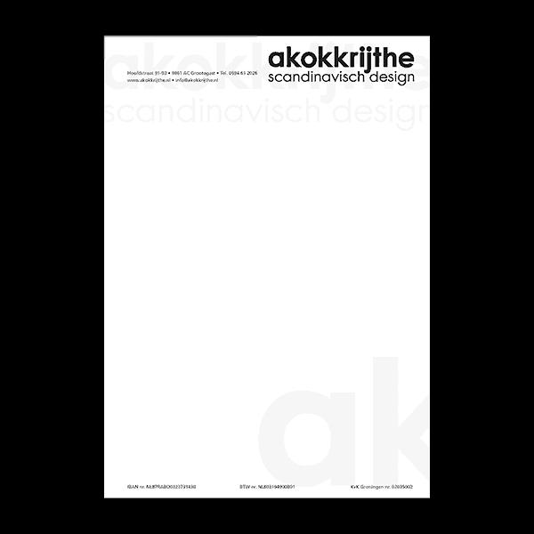 Akokkrijthe - Klant Reclamebureau RAM - briefpapier