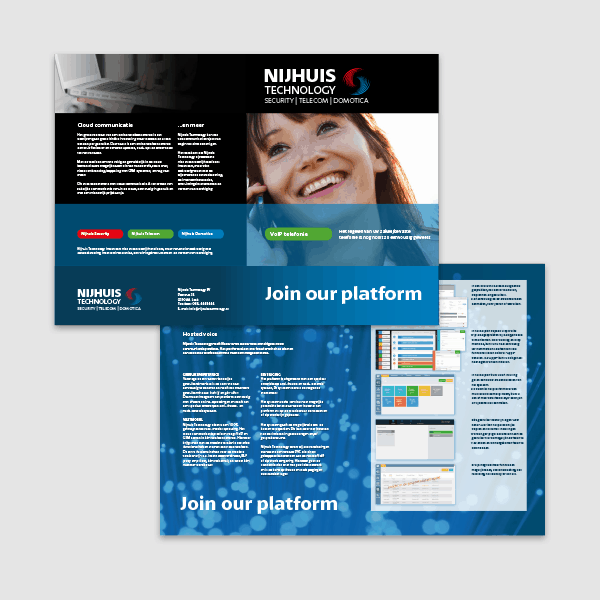 Nijhuis Technology - Klant Reclamebureau RAM - folder